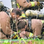 Firefighters perform CPR in Dog Rescue